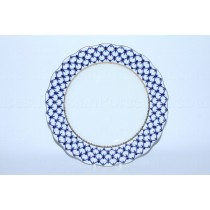 "Dining Plate pic. Cobalt Net 10.75"", Form Tulip"
