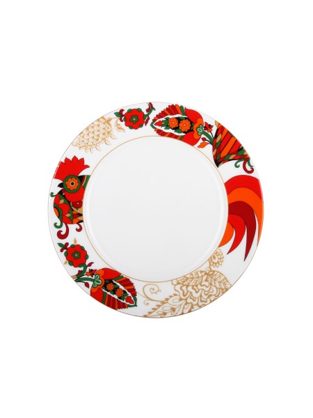 "Dining Plate pic. Red Rooster 2 10.63"", Form European-2"