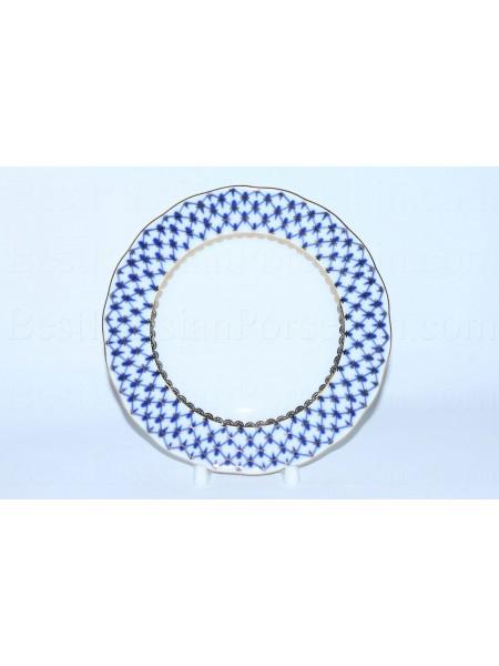 One Dessert Plate pic. Cobalt Net, Form Tulip