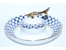 Dish for Caviar / Ikornitsa pic. Cobalt Net, Form Caspian
