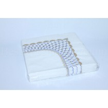 Set of 20 Paper Napkins pic. Cobalt Net