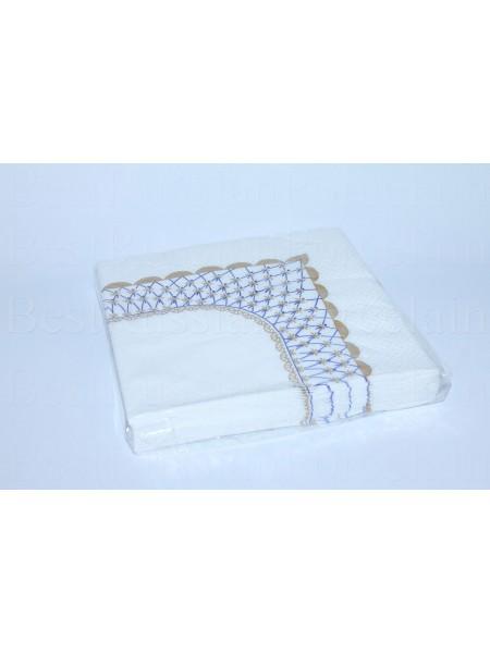 Set of 20 Paper Napkins pic. Cobalt Net