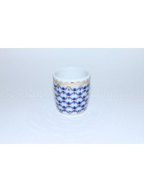 Shot Glass Cobalt Net Form Slavic