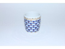 Shot Glass Cobalt Net Form Slavic