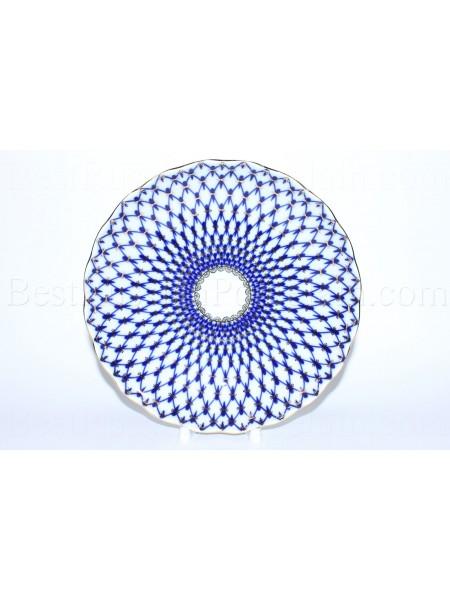 Biscuit Dish pic. Cobalt Net Form Tulip
