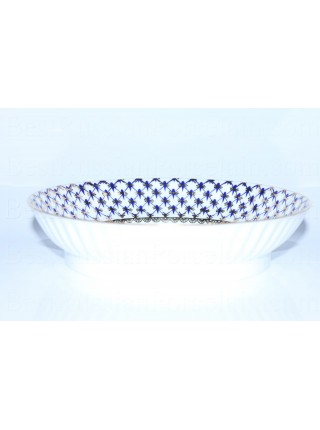 Biscuit Dish pic. Cobalt Net Form Wave