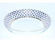 Biscuit Dish pic. Cobalt Net Form Wave