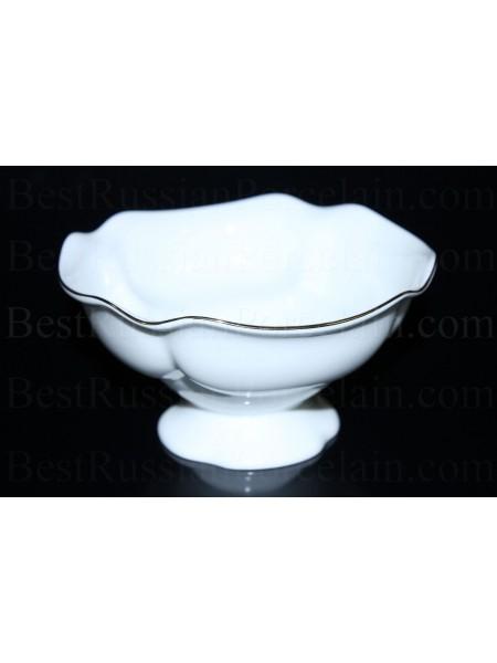 Vase for jam pic. Golden ribbon, Form Natasha