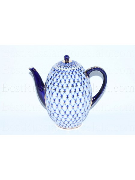 Coffee pot Cobalt Net, Form Tulip