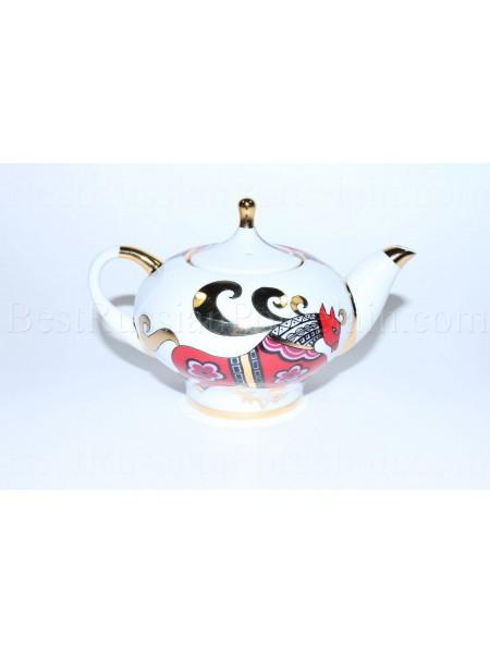 Teapot Red Horse Form Novgorod