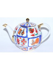 Teapot pic. Russian Lubok, Form Tulip