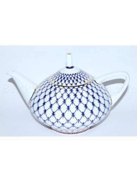Teapot Cobalt Net, Form Dome