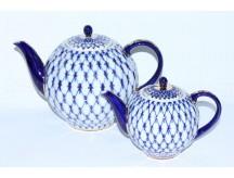 Set two teapots Cobalt Net,  Form Tulip