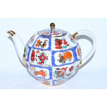 Teapot Russian Lubok (Big 67.6 fl oz) Form Tulip