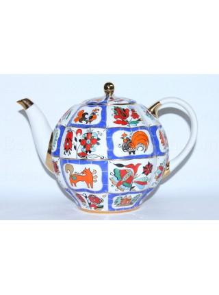 Teapot Russian Lubok (Big 67.6 fl oz) Form Tulip