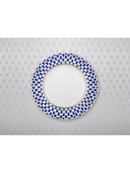 "Tablecloth pic. Cobalt Net(Silver) 57""*87"""
