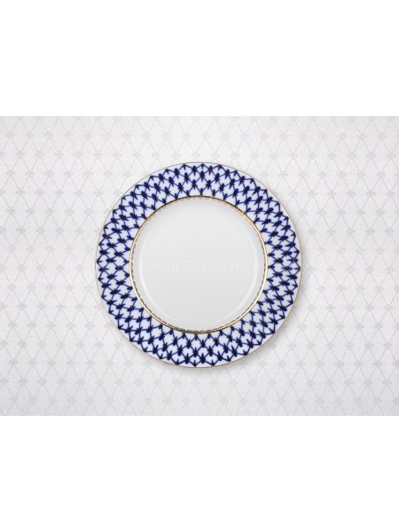 "Tablecloth pic. Cobalt Net(White) 57""*87"""