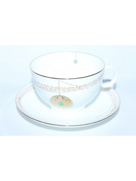 Cup and saucer pic. Golden Medallion, Form Apple