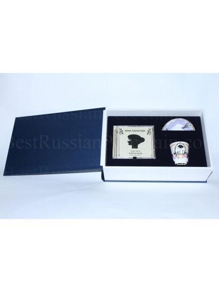 Set: сup and saucer pic. Anna Akhmatova & CD, Form May