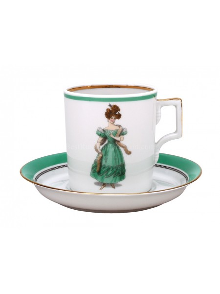 Cup and saucer pic. Modes de Paris 1830, Form Heraldic