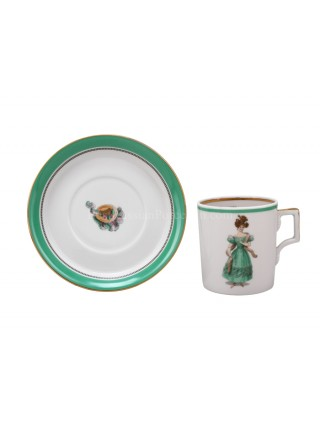 Cup and saucer pic. Modes de Paris 1830, Form Heraldic
