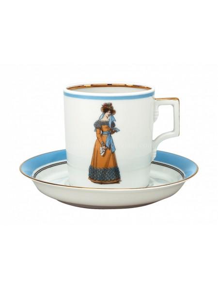 Cup and saucer pic. Modes de Paris 1823, Form Heraldic