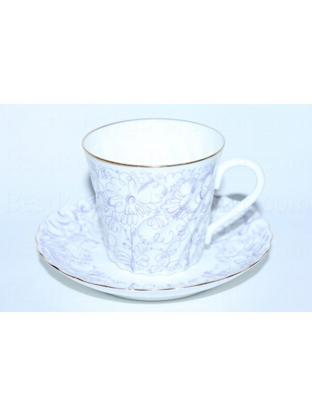Cup and saucer pic. Garden, Form Twisted