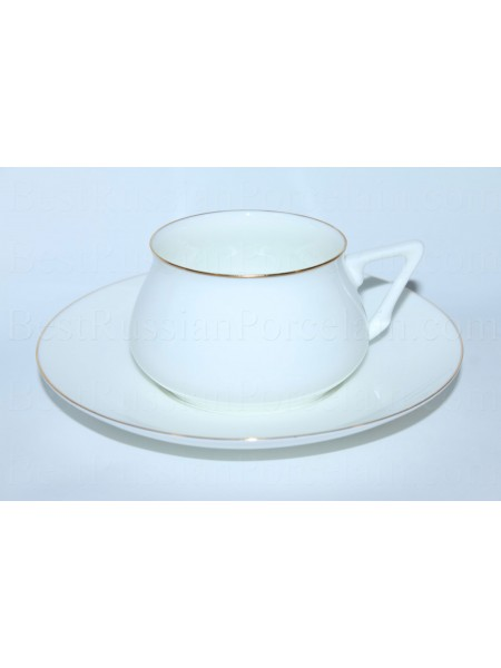 Cup and Saucer pic. Golden Edge Form Bilibin