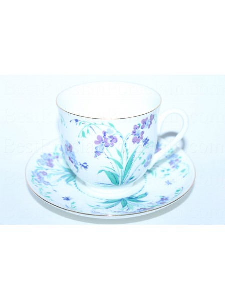 Cup and saucer pic. Forget me not, form Lily of the valley