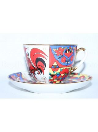 Cup and Saucer pic. National Patterns, Form Spring