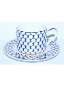 Cup and saucer pic. Cobalt Net, Form Solo