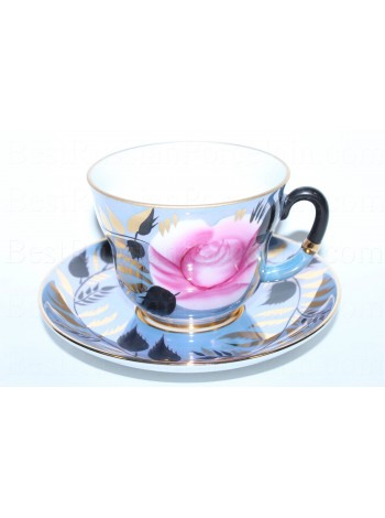 Cup and saucer pic. Rose, Form Madam