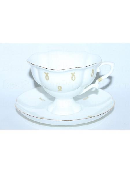 Cup and saucer pic. Eyelets (Loops), Form Natasha