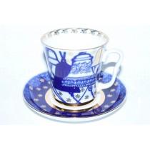 Mug and Saucer pic. Bells, Form Leningrad