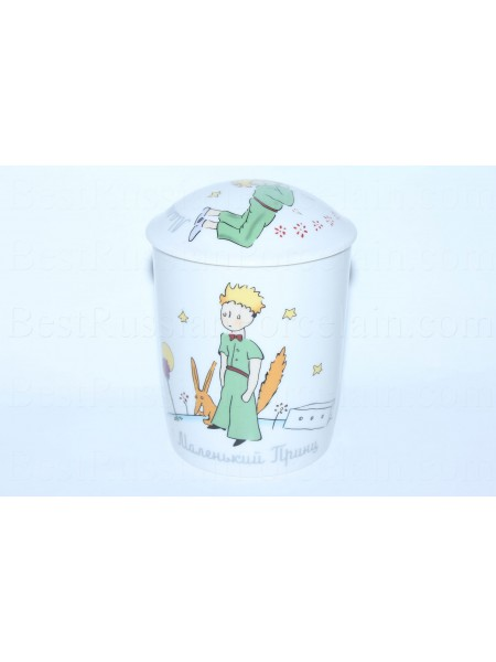Mug with lid pic. Little Prince, Form Snow morning