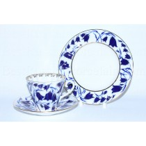 Trio set pic. Bluebells: tea cup, saucer and dessert plate, Form Radiant
