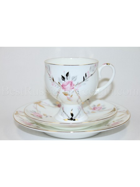 Trio set: tea cup, saucer and dessert plate pic. Gallant, Form Classical-2