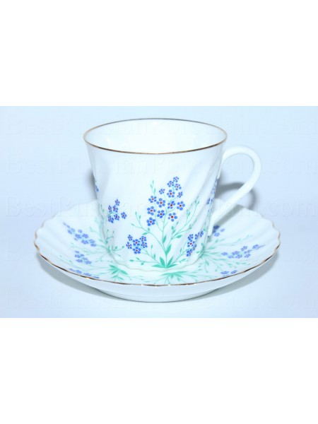 Cup and saucer pic. Brook, Form Twisted