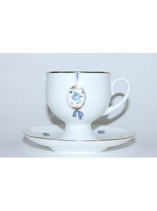 Cup and Saucer pic. Easter (Blue Flower) Form Classical-2