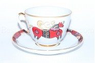 Cup and Saucer pic. Red Horse, Form Spring