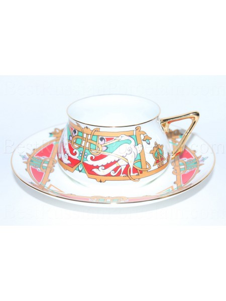 Cup and Saucer pic. Magic Birds Form Bilibin 1