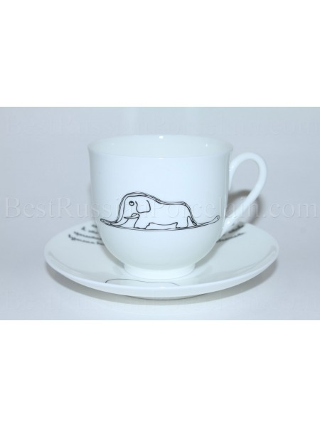 Cup and Saucer pic. Little Prince - Elephant (Boa), Form Lily of the valley