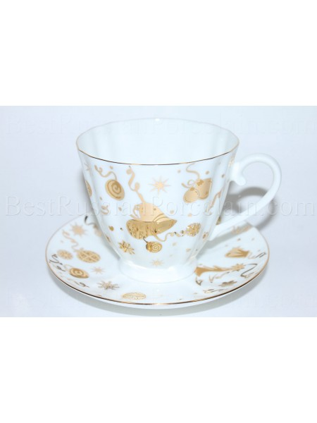 Cup and Saucer pic. Cheerful Holiday, Form Carnation