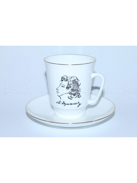 Cup and Saucer pic. A.S. Pushkin, Form May