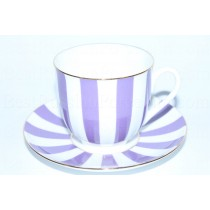 Cup and Saucer pic. Yes & No (Purple) Form Lily of the valley