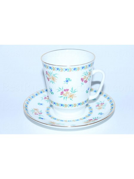 Cup and Saucer pic. Blue Bells, Form May