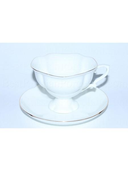 Cup and saucer pic. Golden ribbon, Form Natasha