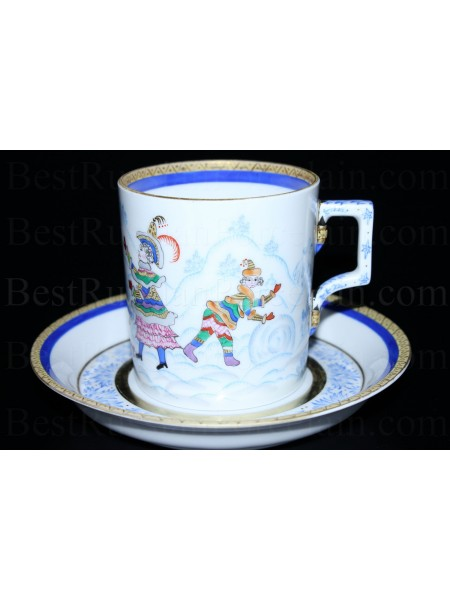 Cup and Saucer pic. Winter Fun, Form Heraldic
