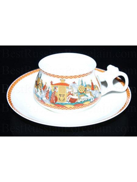 Cup and Saucer pic. Army of Dodon, Form Bilibin
