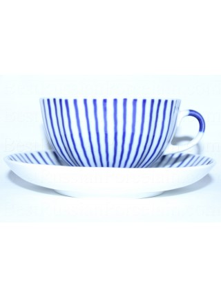 Cup and Saucer pic. Frenchman or Ripple, Form Tulip
